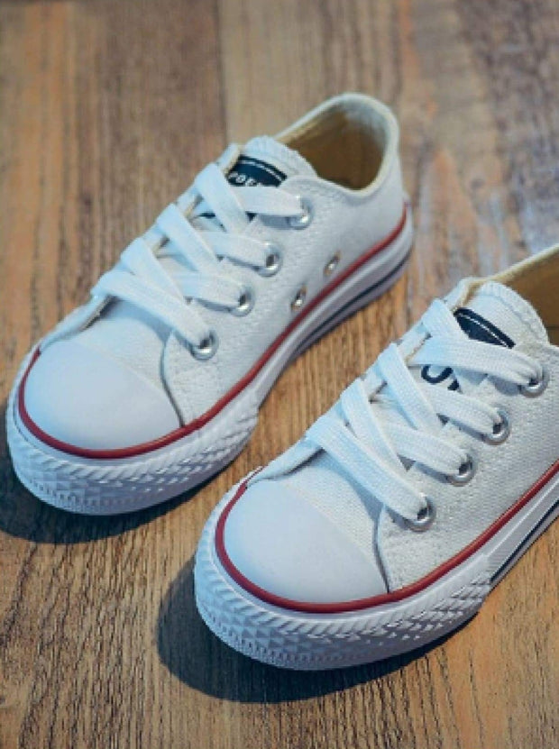 Girls Casual Low Top Canvas Sneakers - Girls Sneakers