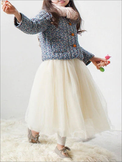 Girls Casual Mid-Calf Tutu Skirt - Girls Skirt