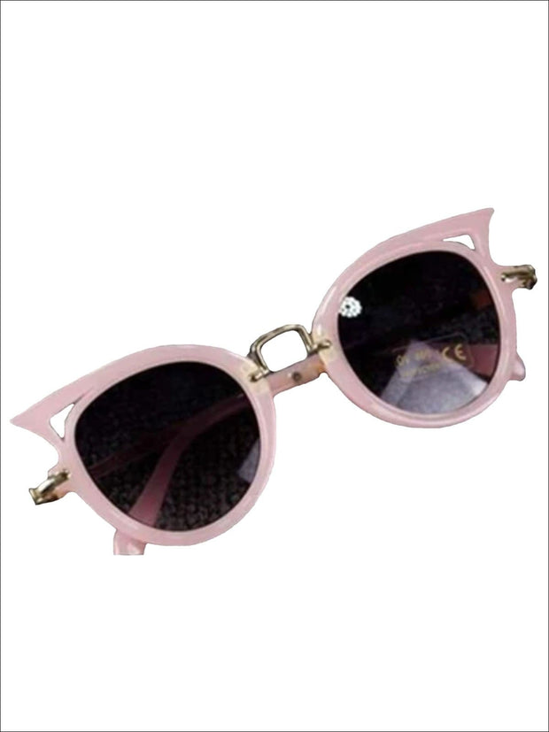 Girls Cat Eye Sunglasses - pink / One - Girls Accessories