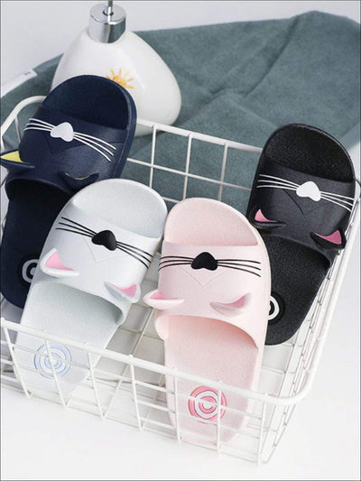 Girls Cat Face Slides - Girls Sandals