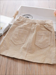 Girls Corduroy A-Line Skirt - Girls Skirt
