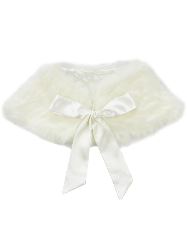 Girls Creme Faux Fur Princess Cloak/Bolero - Girls Halloween Costume