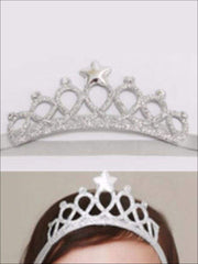 Girls Crown Headband - Silver - accessories