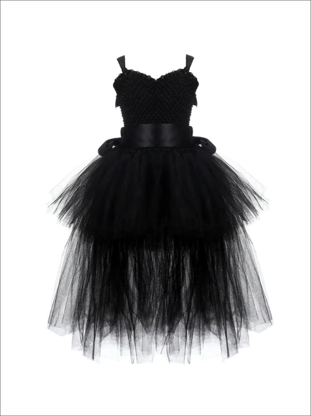 Girls Dark Black Unicorn Halloween Tutu Costume - Girls Halloween Costume