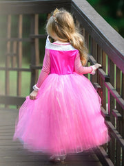 Girls Deluxe Aurora Sleeping Beauty Inspired Princess Dress - Girls Halloween Costume
