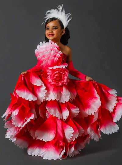 Girls Deluxe Pink Spanish Flamenco Dancer Costume - Girls Halloween Costume
