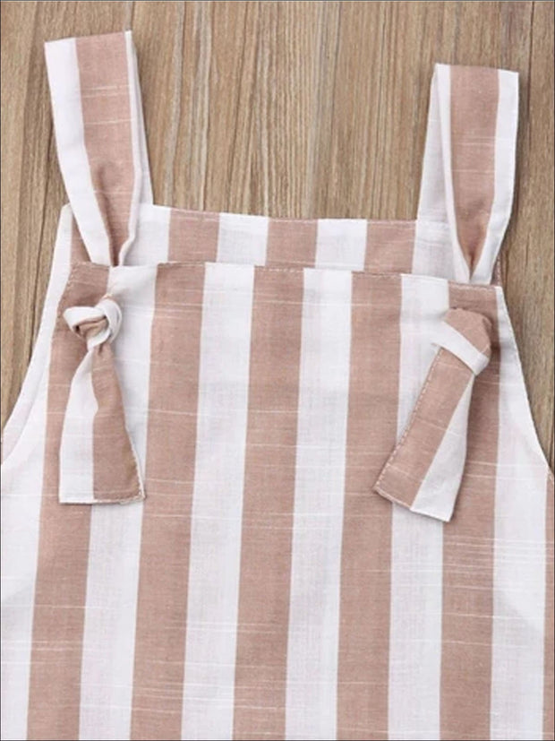 Girls Distressed Candy Stripe Dress - Girls Spring Casual Dress