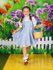 Girls Dorothy from Wizard of Oz Inspired Halloween Costume - Girls Halloween Costume