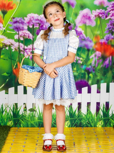Girls Dorothy from Wizard of Oz Inspired Halloween Costume - Blue / 12M - Girls Halloween Costume