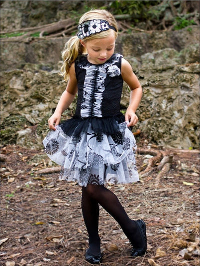 Girls Dropwaist Tiered Ruffle Holiday Dress