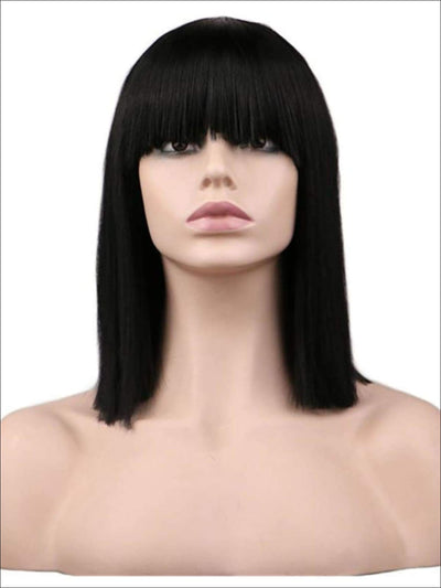 Girls Egyptian Cleopatra Style Wig with Bangs - One Size - Hair Accessories