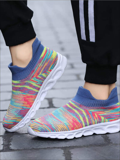 Girls Elastic Socks Breathable Mesh Sneakers - Multicolors / 1 - Girls Sneakers
