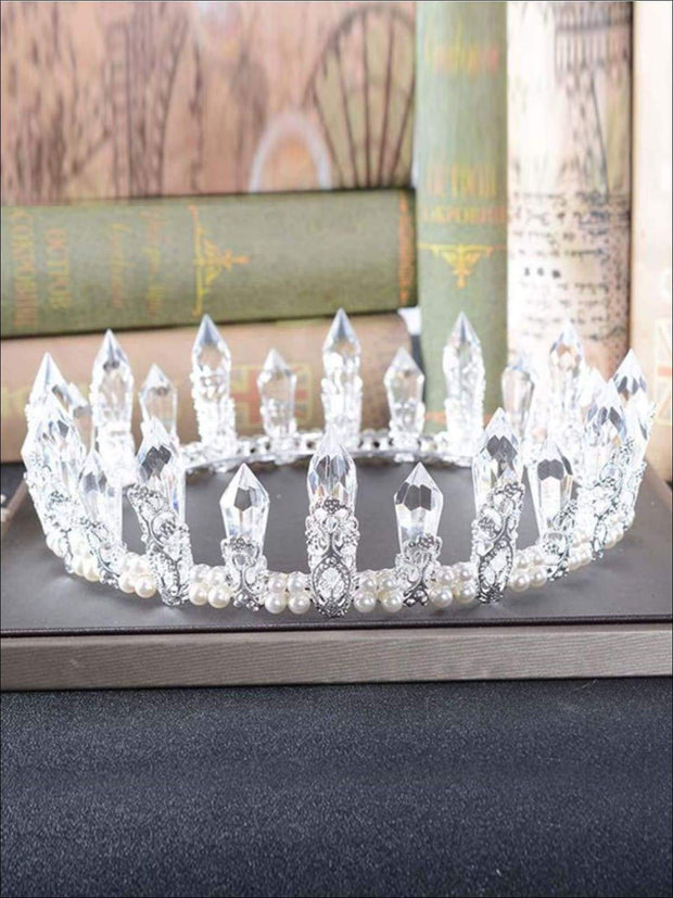 Girls Elsa from Frozen Inspired Icicle Crown - Girls Halloween Costume