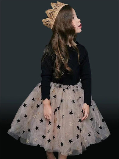 Girls Fall Long Sleeve Sweater Tutu Dress - Black / 3T - Girls Fall Dressy Dress