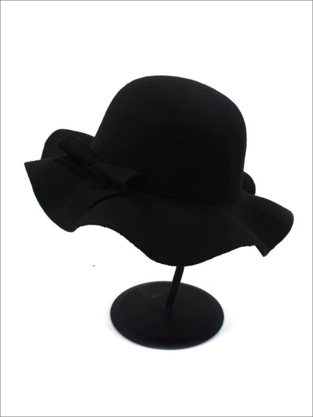 Girls Fedora Hat - Black / Brim size: 4.5CM Hat size: 52-54CM Hat High: 9CM - Girls Hat