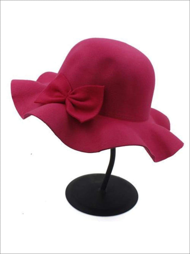 Girls Fedora Hat - Hot Pink / Brim size: 4.5CM Hat size: 52-54CM Hat High: 9CM - Girls Hat