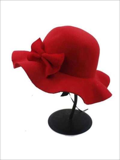 Girls Fedora Hat - Red / Brim size: 4.5CM Hat size: 52-54CM Hat High: 9CM - Girls Hat