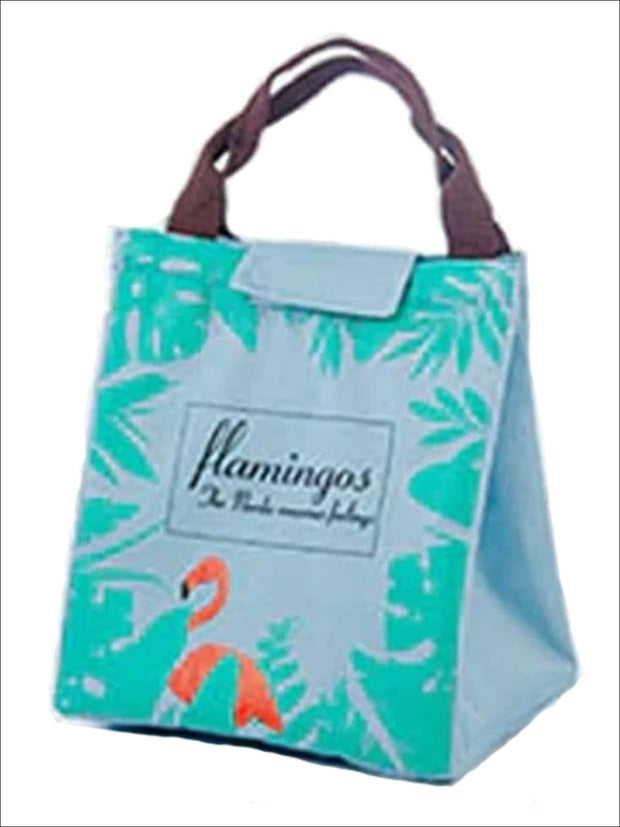 Girls Flamingo Waterproof Tote Lunch Bag - Girls Lunchbox