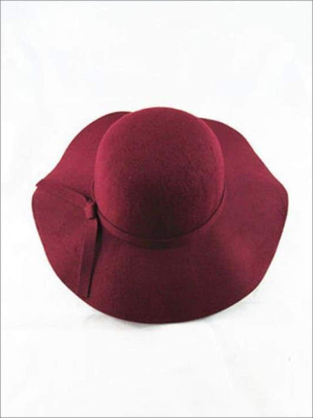 Girls Floppy Hat (6 color options) - Burgundy / One - Hats & Caps