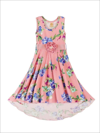 Girls Floral Hi Lo Boho Dress