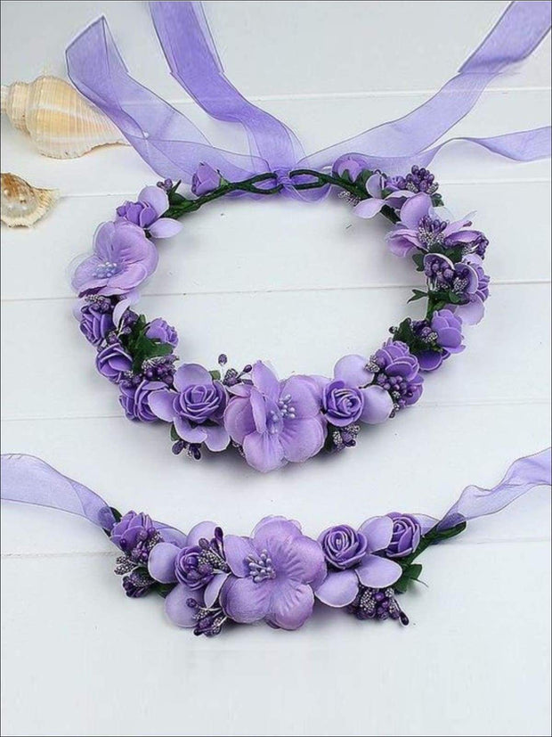 Girls Flower Halo Set - Lilac / One - Flower Halo