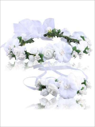 Girls Flower Halo Set - White / One - Flower Halo