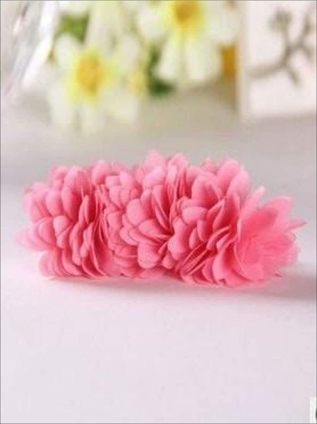 Girls Flower Petal Hair Band - Coral Pink / Small - Hair Accessories
