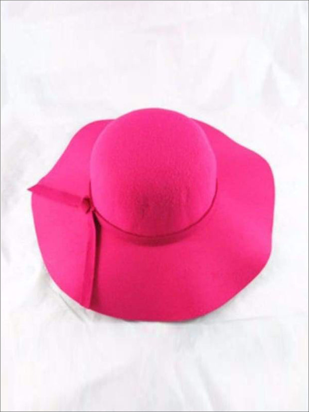 Girls Fuchsia Floppy Hat - Fuchsia / Small - accessories
