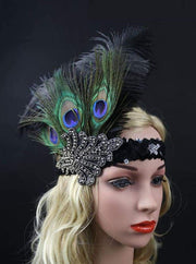 Girls Gatsby Inspired Embellished Feather Headpiece (Multiple Style Options) - Hair Accessories