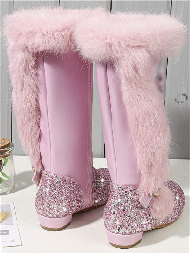 girls boots with fur