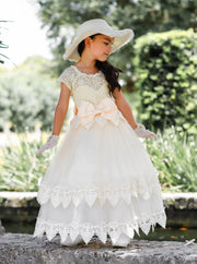 Girls Gone With the Wind Inspired Lace Southern Belle Halloween Costume Dress - Girls Halloween Costume