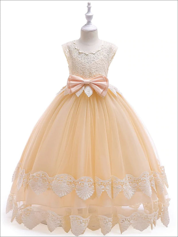 Girls Gone With the Wind Inspired Lace Southern Belle Halloween Costume Dress - Yellow / 3T/4T - Girls Halloween Costume