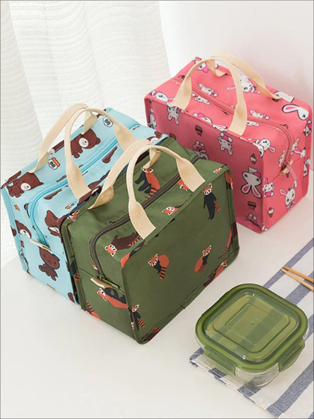 Girls Graphic Insulated Thermal Lunch Box - Girls Lunchbox