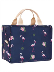 Girls Graphic Insulated Thermal Lunch Box - Navy - Girls Lunchbox