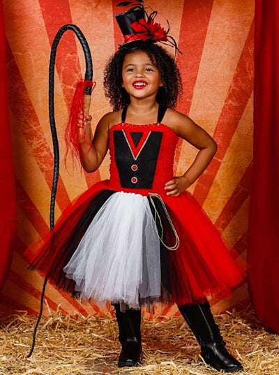Girls Greatest Showman Inspired Circus Ringmaster Halloween Tutu Dress - Girls Halloween Costume