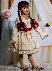 Girls Haunted Annabelle Doll Inspired Halloween Costume Dress - Girls Halloween Costume