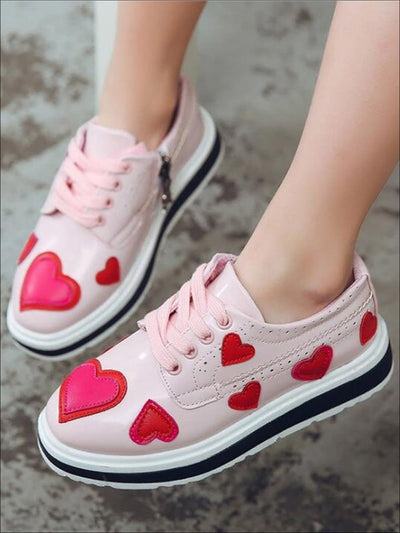 Girls Heart Patch Sneakers - Girls Sneakers