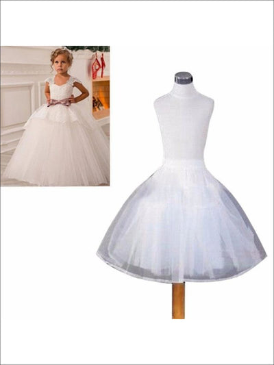 Girls Ivory No Hoops Petticoat - Girls Petticoats