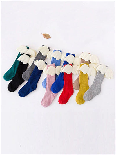 Girls Knee High Angel Wing Socks - Girls Accessories