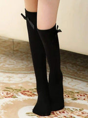 Girls Knee High Butterfly Socks - Black / 1 - Girls Accessories