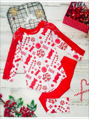 Girls Lace Contrast Long Sleeve Tunic & Matching Cuffed Leggings Set - Girls Christmas Set