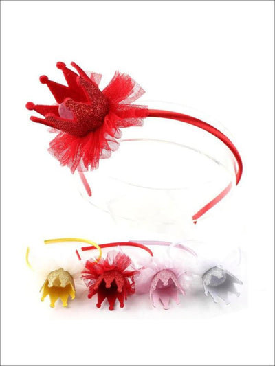 Girls Lace Crown Headband ( 4 color options) - Hair Accessories