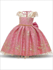 Girls Lace Embroidery Dress - Pink / 3T/4T - Girls Spring Dressy Dress