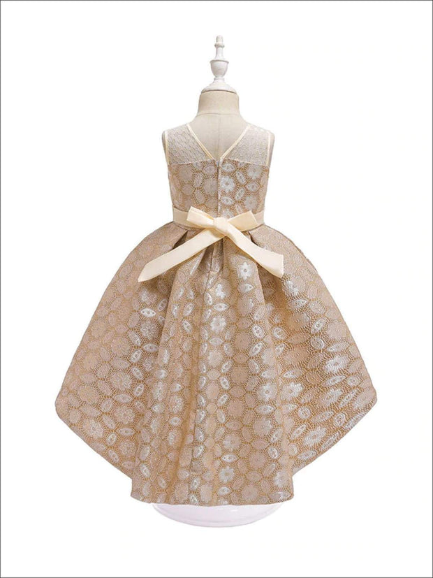 Girls Lacey Holiday Party Dress - Girls Fall Dressy Dresses