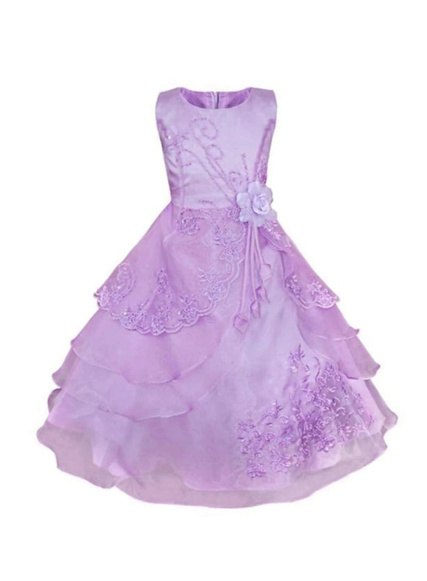 Girls Lilac Tiered Princess Sofia the First Inspired Costume - Lilac / 3T - Girls Halloween Costume