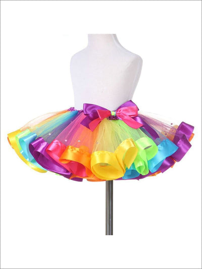 Girls Magical Rainbow Tutu With Rhinestones - Rainbow / 2T - Girls Skirt