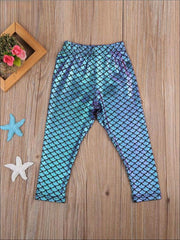 Girls Mermaid Leggings - Girls Leggings