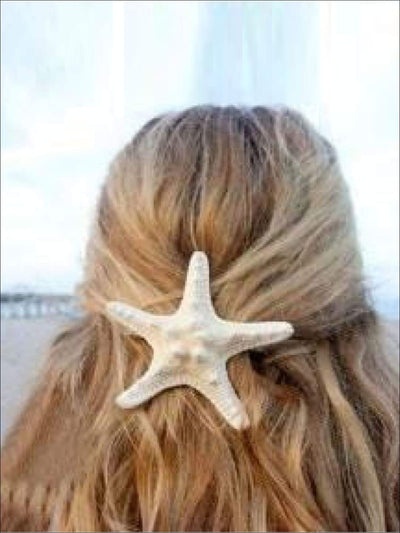 Girls Mermaid Starfish Hair Clip - Girls Hair Clip