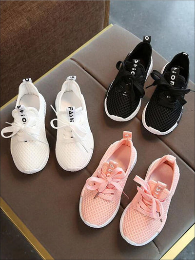 Girls Mesh Lace Up Non-Slip Sneakers - Girls Sneakers