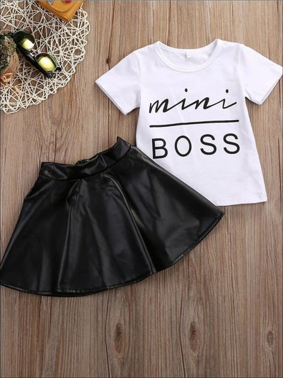 Girls Mini Boss Tee & Skirt Set - Girls Spring Casual Set